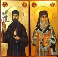 Prietenii nostri Sfintii!  Sfantul Ierarh Nectarie si Sfantul Mare Mucenic Efrem, cei doi mari vindecatori ai sufletelor noastre!