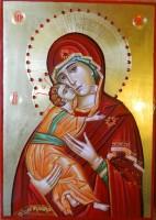 Maica Domnului Dulcea Sarutare- Expresia sublima a dragostei adevarate! Mama si copilul ei!