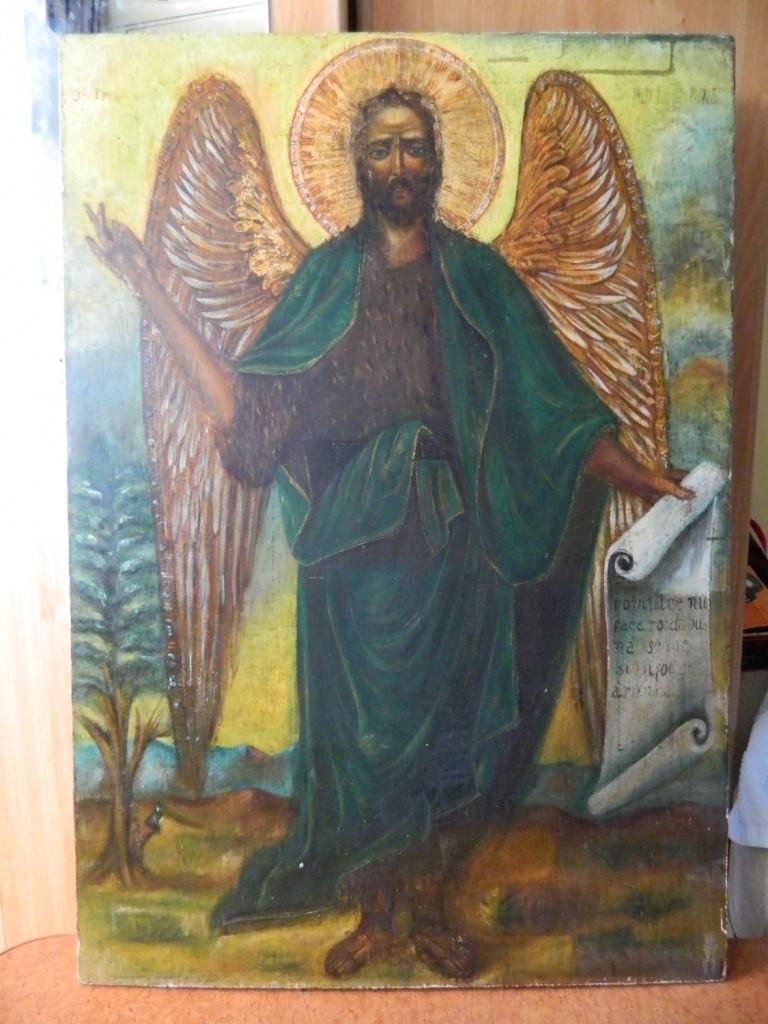Sf Ioan Botezatorul- Dupa curatere partiala.