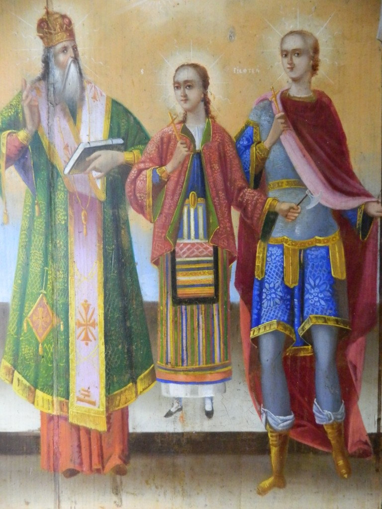 Sf Nifon, Sf Filofteia si Sf Gheorghe- Dupa operatiunile de restaurare- DETALIU
