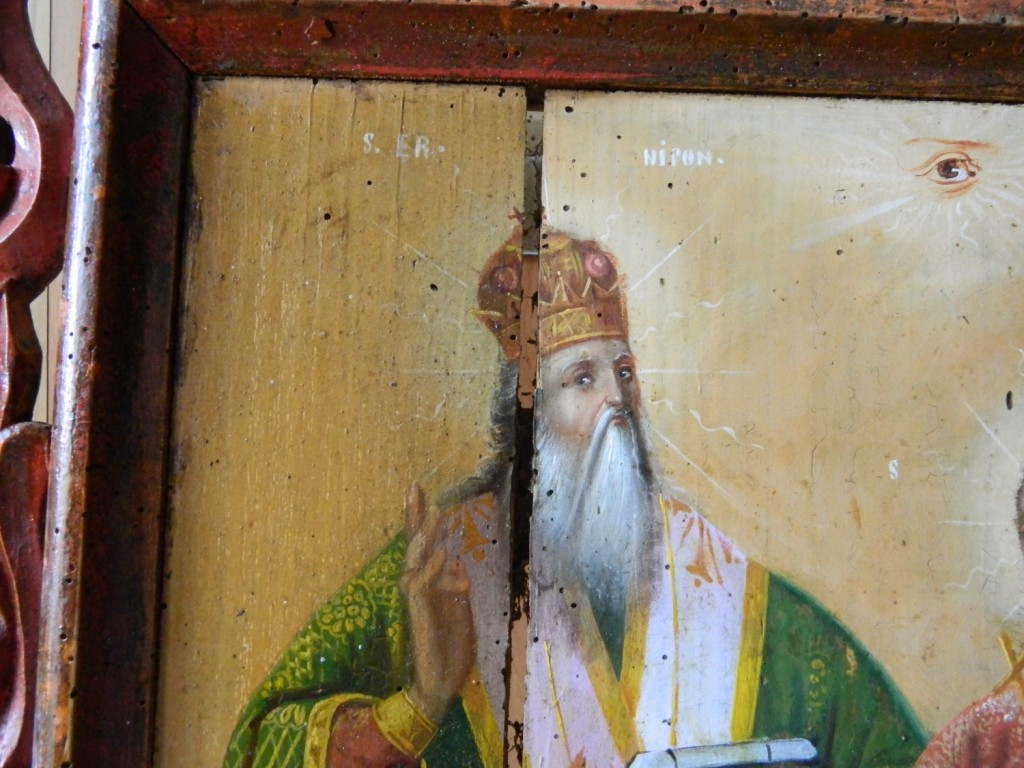 Sf Nifon, Sf Filofteia si Sf Gheorghe--In timpul operatiunii de curatare (2)