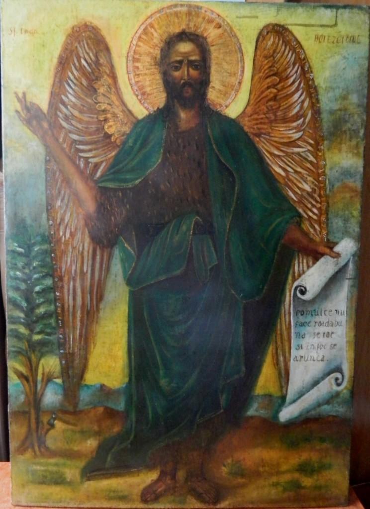 Sf Ioan Botezatorul- Dupa realizarea operatiunilor de restaurare.