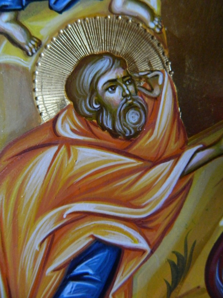 SCHIMBAREA LA FATA A Domnului Hristos- Icoana pe lemn, realizata in tehnica bizantina cu foita de aur de 22k. Dimensiune 40 X35 cm