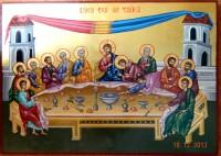 CINA CEA DE TAINA- Icoana ce marcheaza comuniunea in iubire si jertfa a Lui Dumnezeu cu oamenii!