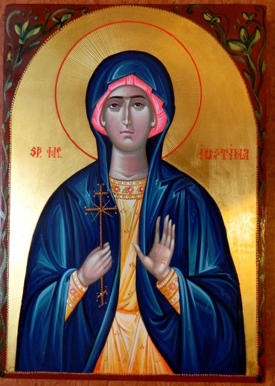 Sfanta Mucenita Iustina- Fecioara preafrumoasa, ce si-a daruit viata si frumusetea mirelui ei Hristos!