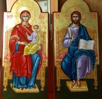 ICOANELE IMPARATESTI-Icoana Domnului Hristos si Icoana Maicii Domnului pe tron