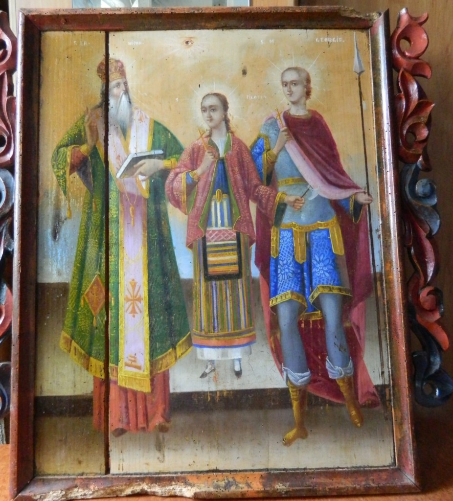 Sf Nifon, Sf Filofteia si Sf Gheorghe--In timpul operatiunii de curatare.