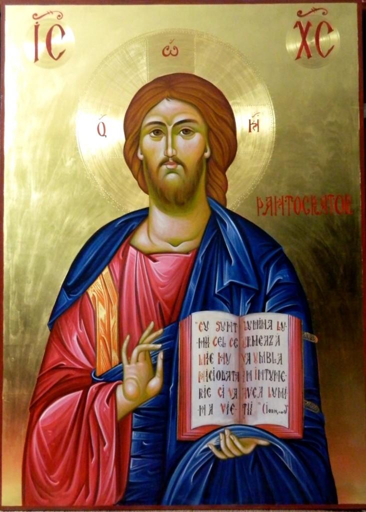 Icoane Imparatesti-DOMNUL IISUS HRISTOS _Icoane realizate pe lemn, in tehnica bizantin ca , cu foita de aur de 22k. Dimensiune 82X60cm