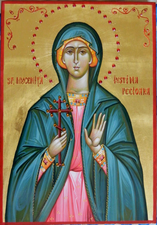 Sfanta Mucenita Iustina Fecioara- Ajutatoarea tinerelor fecioare, un exemplu de tarie in credinta!