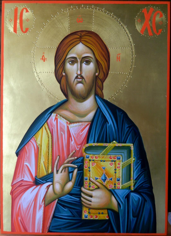 Icoana Domnului Iisus Hristos Pantocrator- Prin ea , Domnul este prezent si viu in casele noastre!