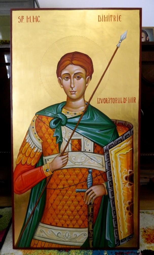 Sfantul Mare Mucenic Dimitrie Izvoratorul de Mir- Icoana Imparateasca!