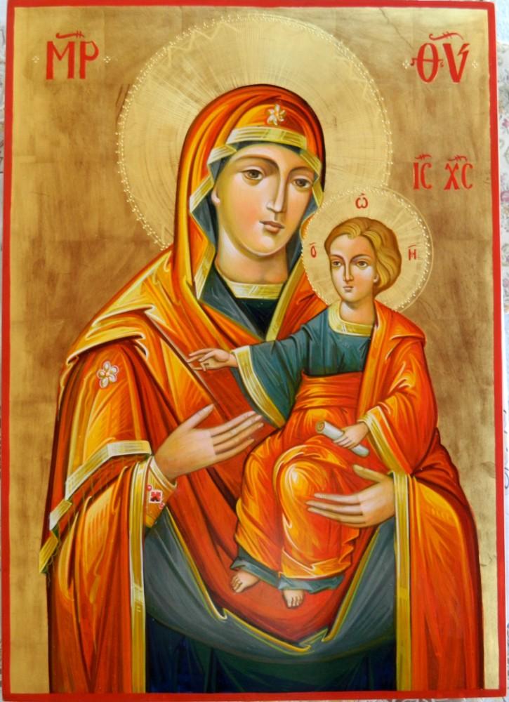 Icoana Maicii Domnului Prodromita( Icon of the Mother of God from Prodromos)  -Nefacuta de mana omeneasca, dar cinstita prin mana omului de sufletele celor ce o doresc!