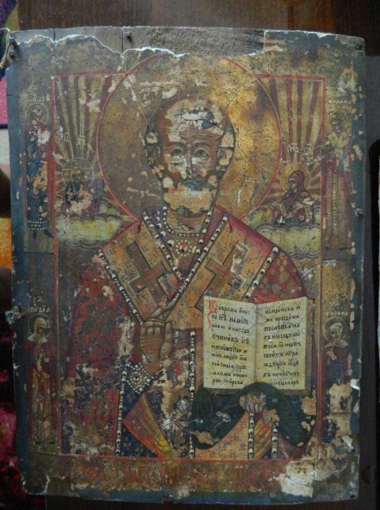 Restaurarea icoanei Sfantului Ierarh Nicolae!-- Fisa de restaurare