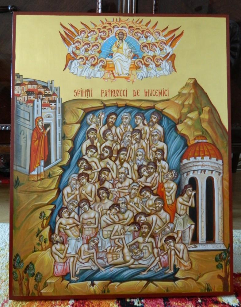 Sfintii Patruzeci de Mucenici din Sevastia- The forty Holy Martyrs of Sevastia- Exemplu de tarie si credinta , incununata de jertfa suprema!