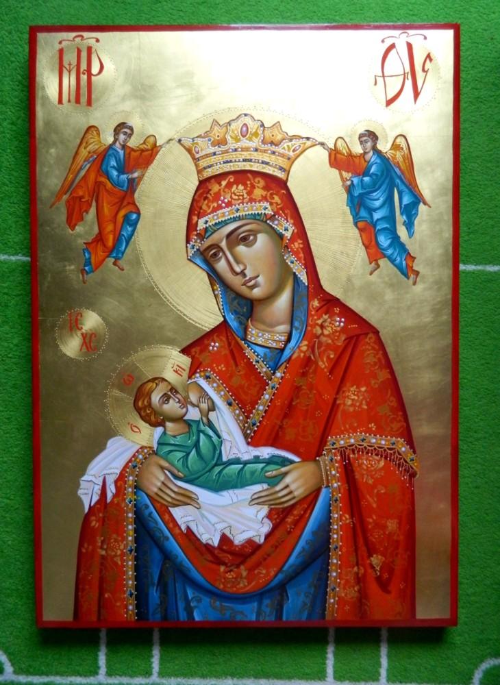 Maica Domnului Hranitoarea Vietii- Icoana cea plina de hrana duhovniceasca , in har si rugaciune!  The Mother of God, Galactotrofusa- This icon is full of spiritual food, in grace and prayer!