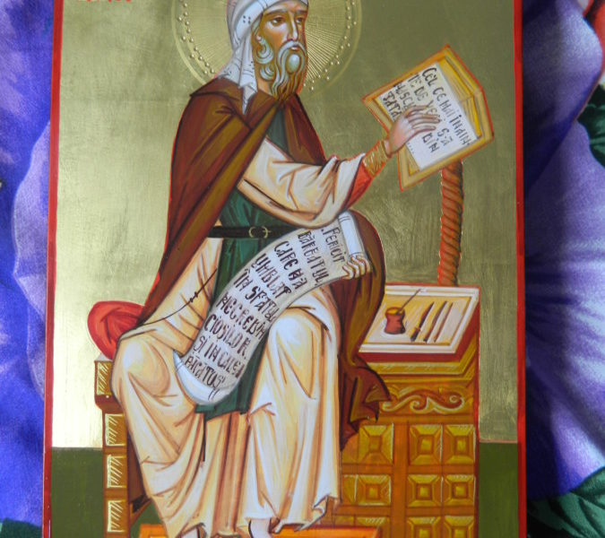 Sfantul Cuvios Ioan Damaschin, ocrotitorul celor ce il lauda pe Dumnezeu in scrieri si cantari!-               Saint John Damascene the protector of those who praise God,in  writings and songs!