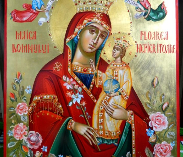 Maica Domnului Floarea Nepieritoare!- Icoana sufletelor frumoase!-Mother of God The Everlasting Flower! - The icon of beautiful souls!