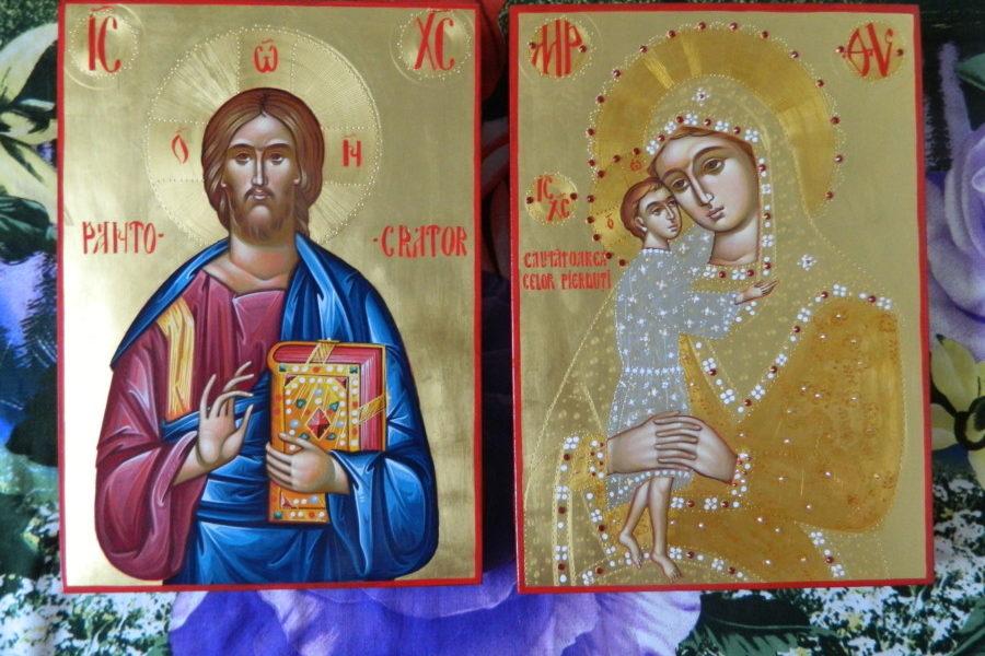Icoana Mantuitorului si a Maicii Domnului- Cele doua ferestre spre rai din casa noastra!