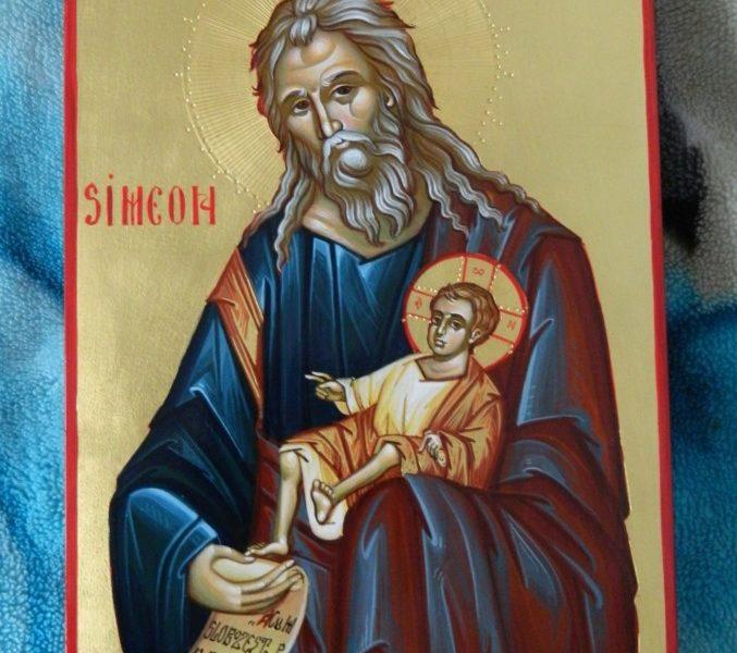Sfantul si Dreptul Simeon- Cel ce poarta in brate intreaga dumnezeire sub chipul unui prunc!