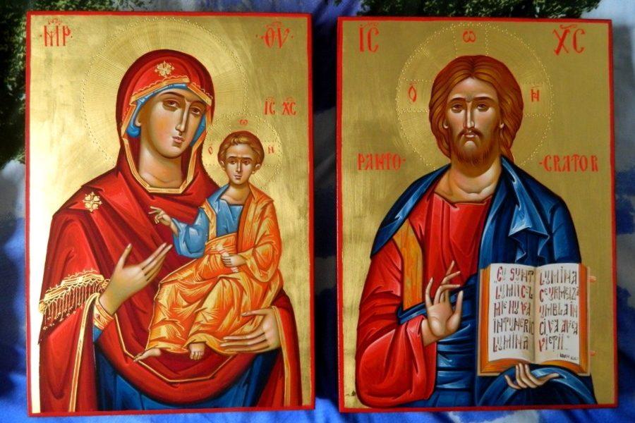 Maica Domnului Indrumatoarea si Domnul Iisus Hristos- Cele doua icoane ferestre spre Imparatia Cerurilor!