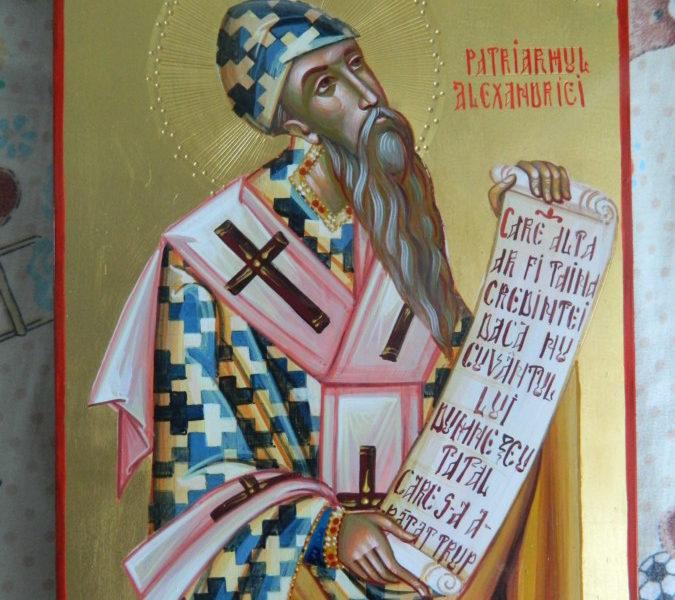 Sfantul Ierarh Chiril al Alexandriei- Cel tare in marturisirea credintei ortodoxe si principalul sustinator al Maicii Domnului, ca Nascatoare de Dumnezeu!