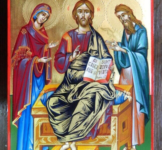 DEISIS- Icoana celor rugatori!Maica Domnului si  Sfantul Ioan pururea rugatori la tronul Lui Dumnezeu!