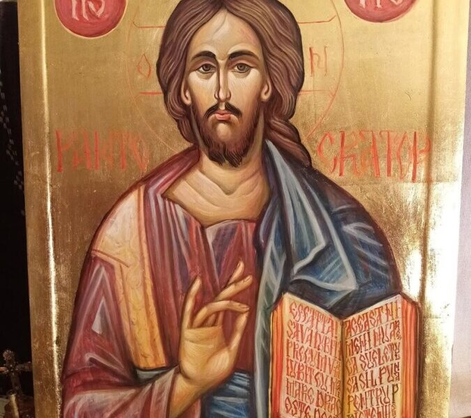 Icoana realizata de artistul Smarandache Alexandru Nicolae- Iisus Hristos Pantocrator
