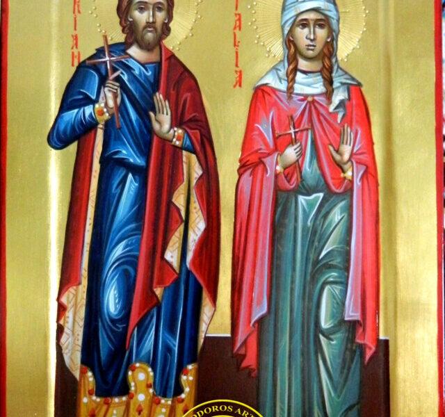 Sfintii Mucenici Adrian si Natalia- Cei doi soti martiri, ce pazesc trairea in Hristos a familiei!